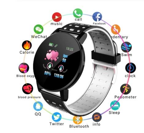 Zegarek Smartwatch Bluetooth 16w1 kroki puls cykl Model 2020