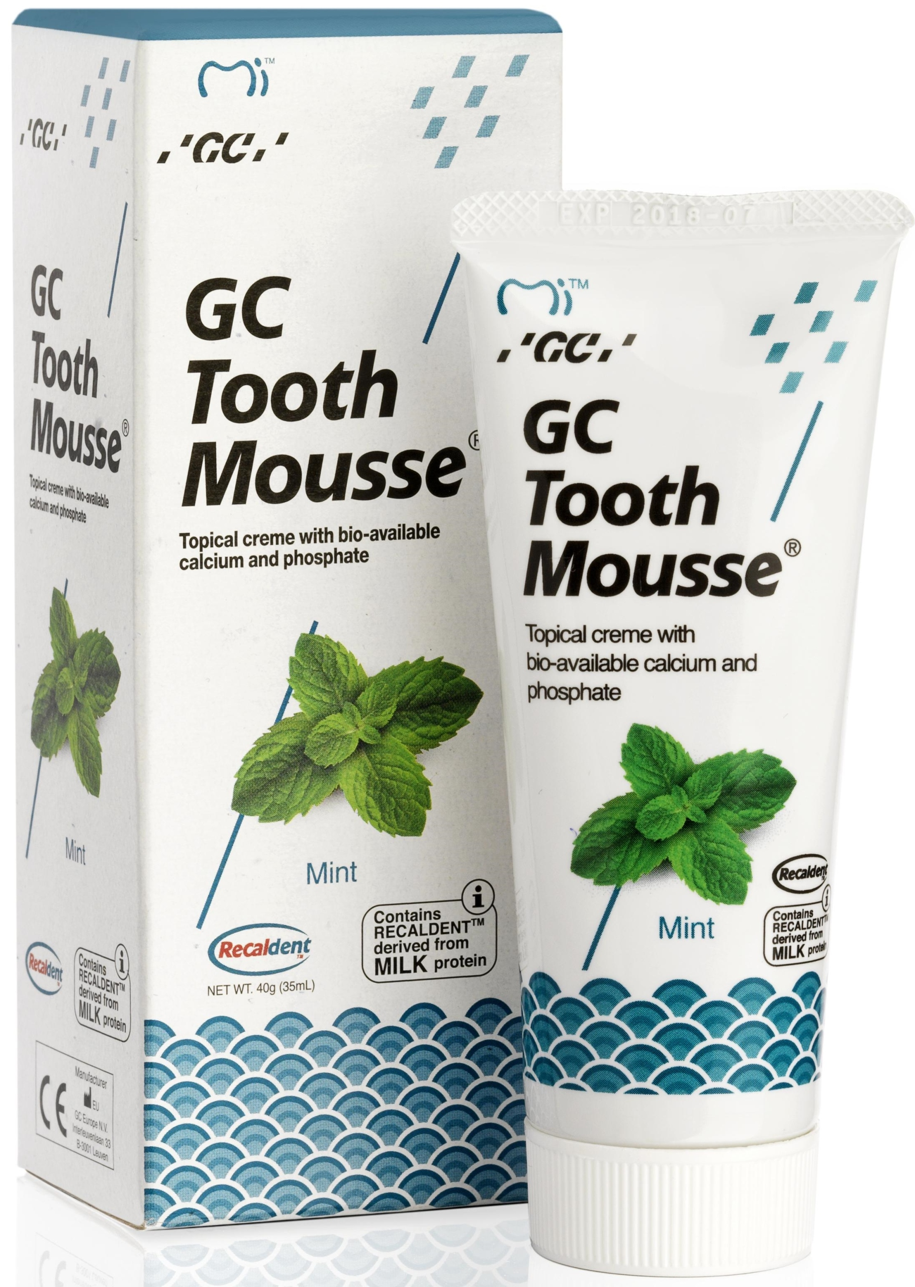 GC PASTA TOOTH MOUSSE 35мл MINT LIQUID ENLAY