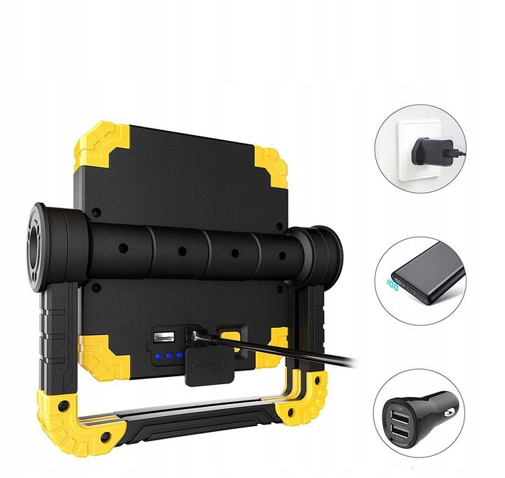 Funkcjonalna LAMPA ROBOCZA LED AKUMULATOROWA Waga produktu z opakowaniem jednostkowym 2 kg
