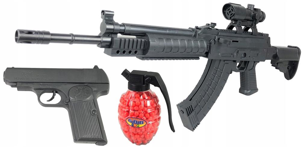 ASG BALL RIFLE AK74 TORCH + BALL GUN