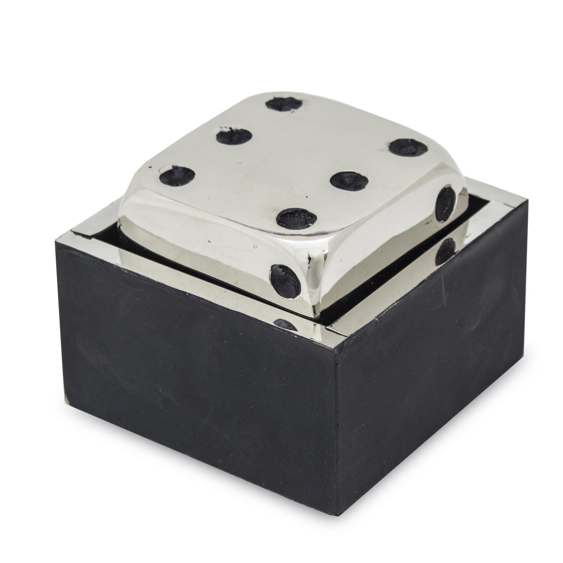 Figúrka kovové kocky pre hru Droma sregrna retro