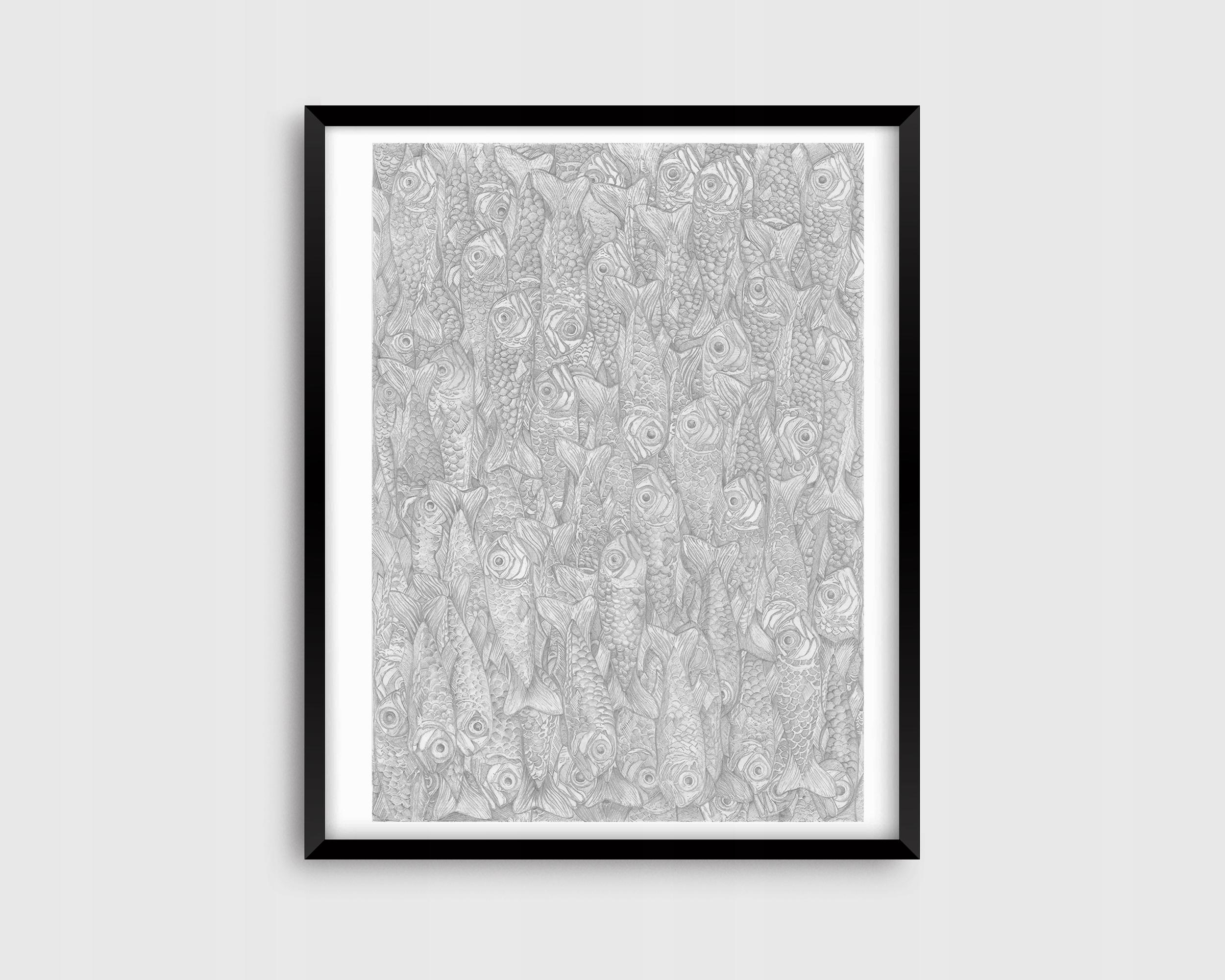 Постер трек Edward artwork printart frotage sketch