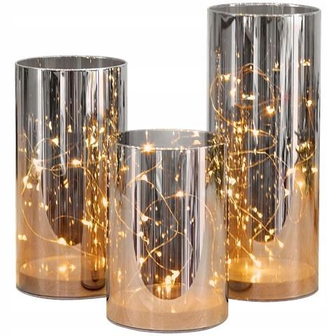 Tuby lampy dekoracyjne lampiony zestaw 3 sztuki