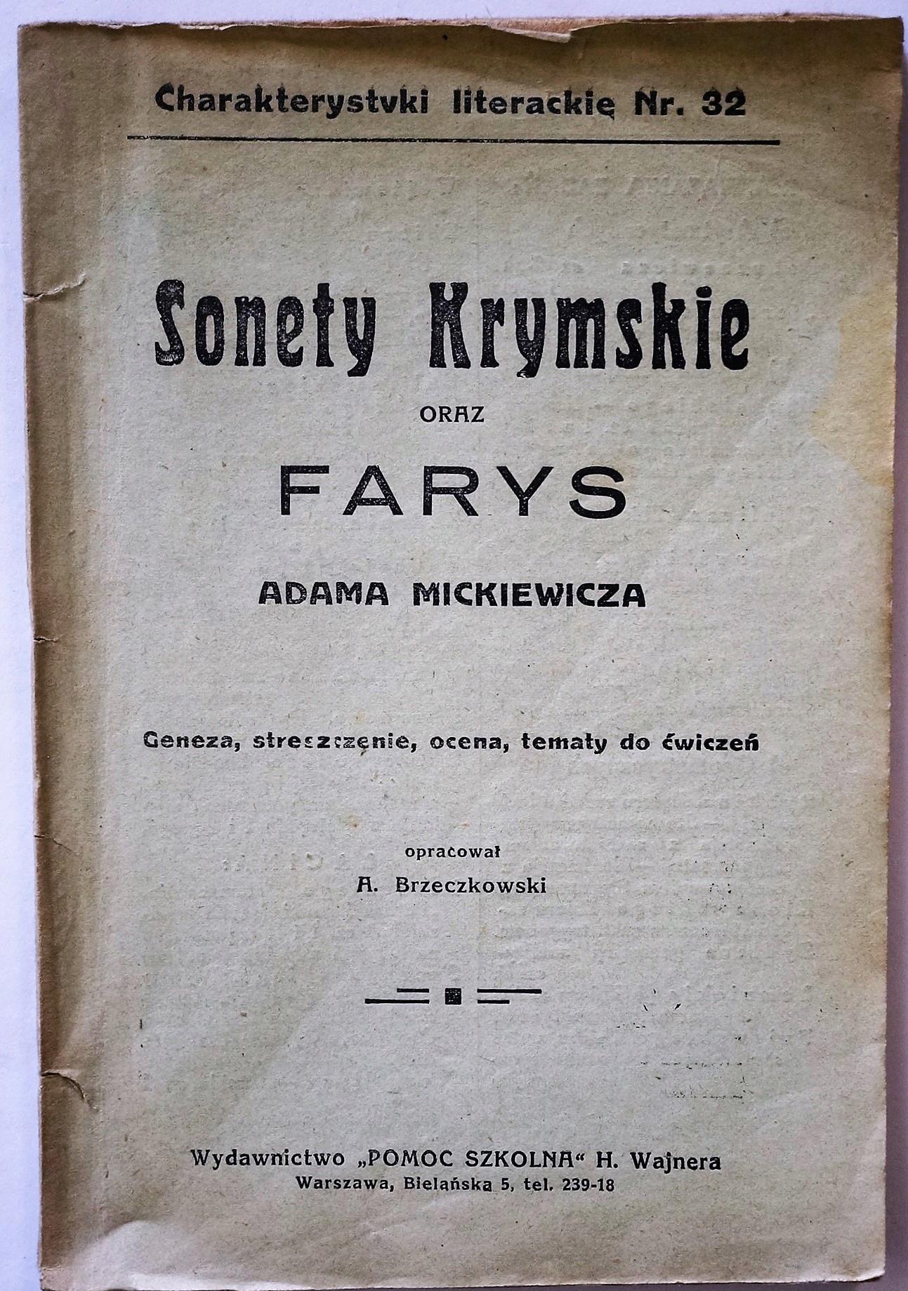 Sonety krymskie Mickiewicz Charakterystyki N
