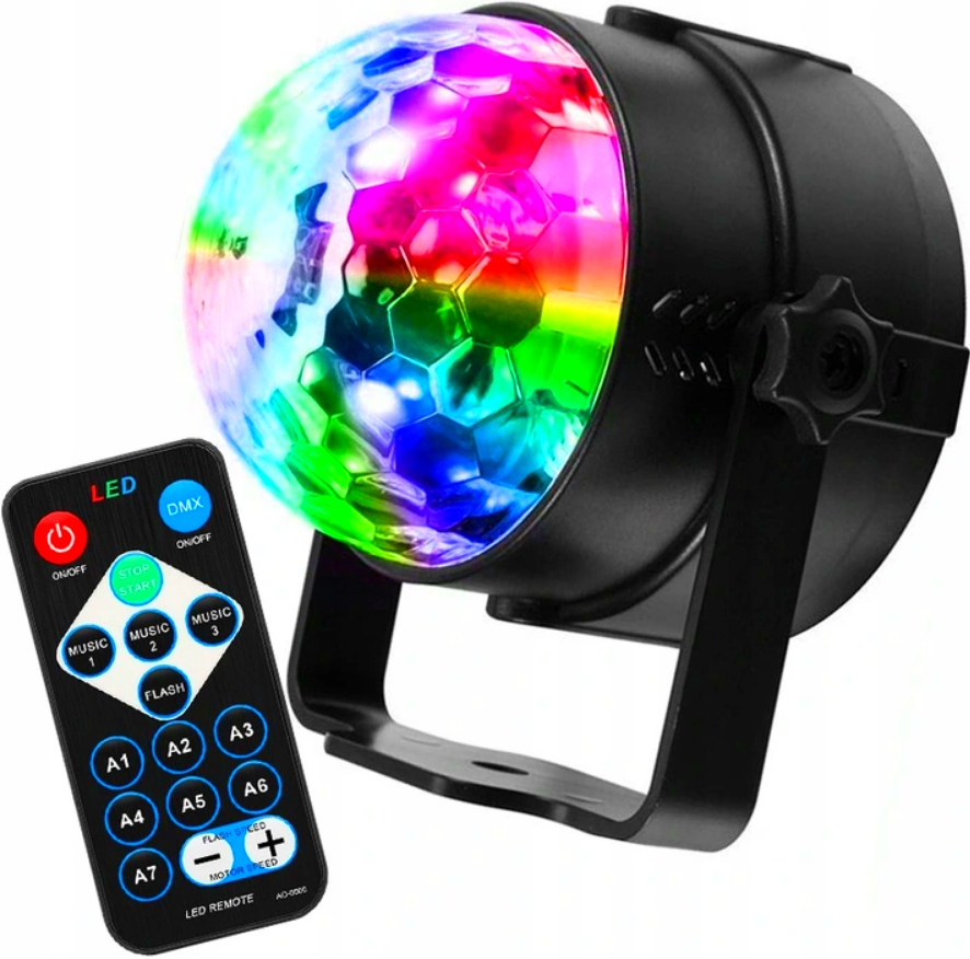 DISCO BALL PROJECTOR RGB LED HOVEDLYS