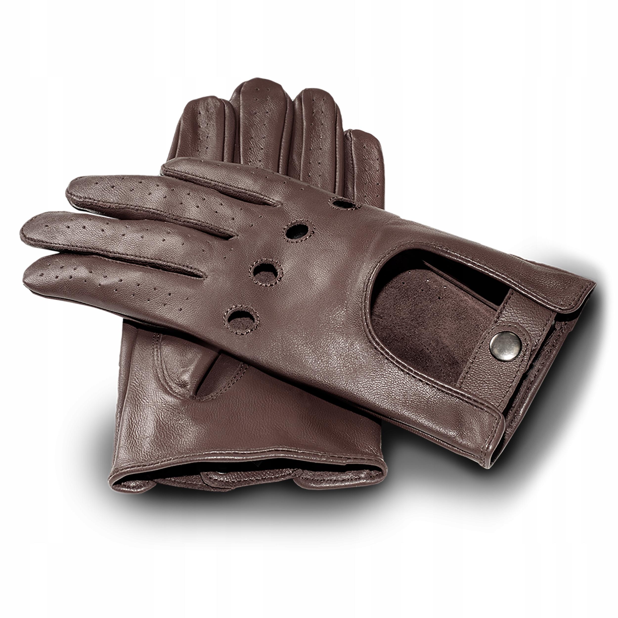 Rękawiczki skórzane męskie dotykowe samochodowe