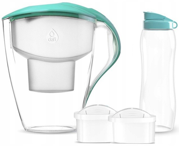Item A FILTER PITCHER DAFI ASTRA + 2 filters + bottle of water