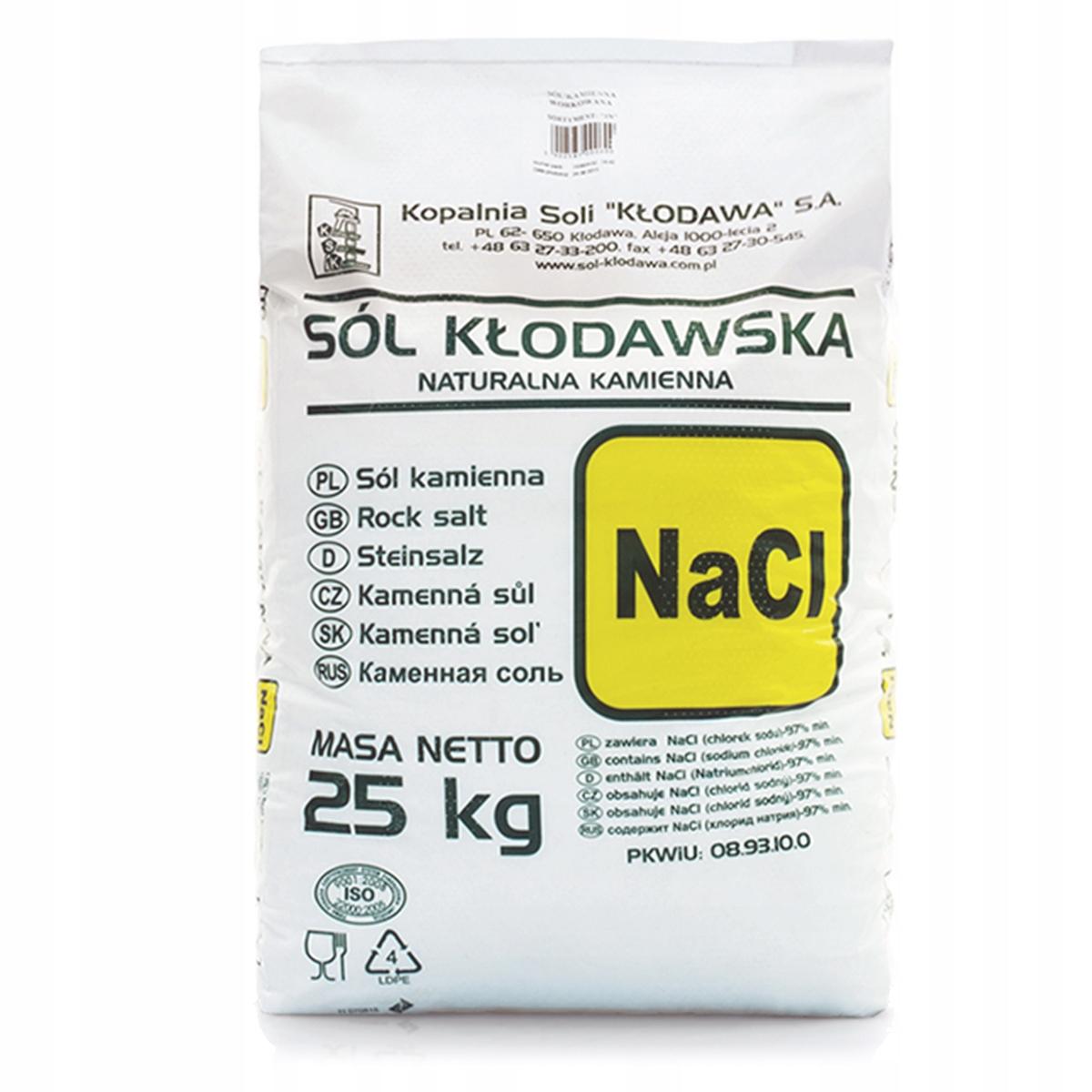 Klodawsky SOĽ pochádza z jemne zrnitou biela 25 kg vrece