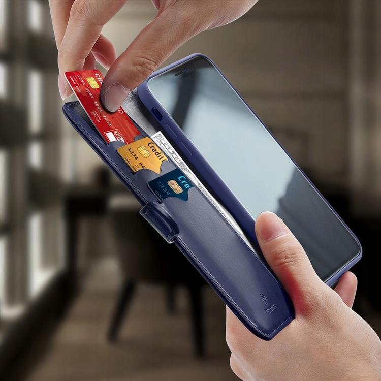 Etui Kado do iPhone 12 / 12 Pro niebieski + szkło Załączone wyposażenie szkło hartowane