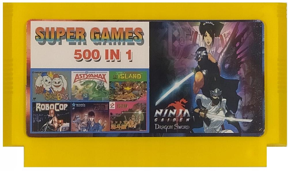 Kazeta Pegazus 500v1 kazeta je dobrá kompilácia