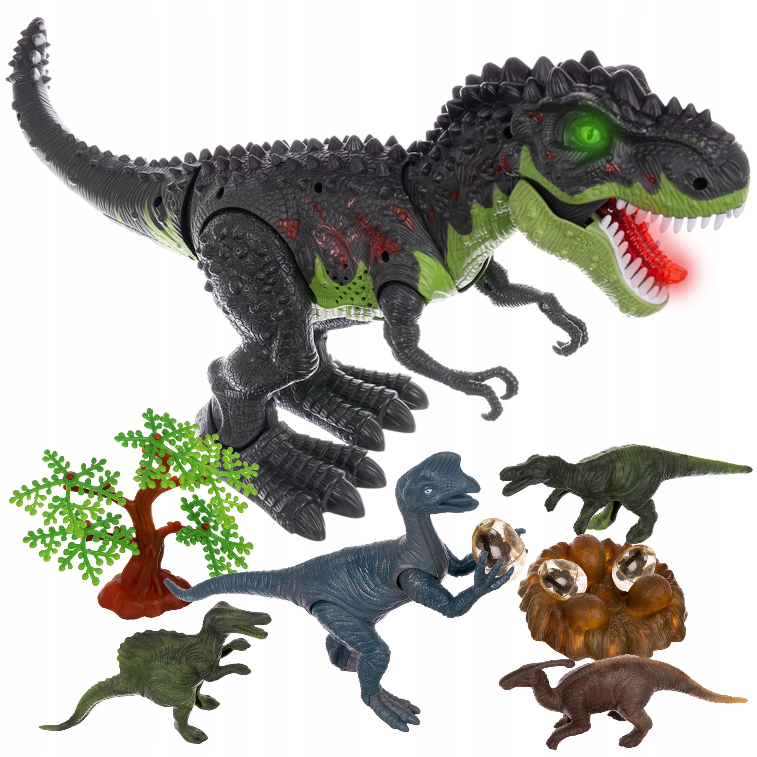 Mega Dinozaur T-Rex Chodzi Ryczy Świeci Znosi Jaja