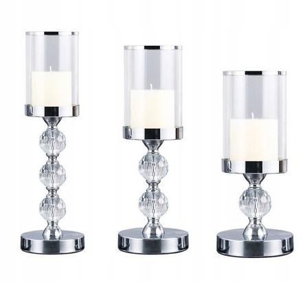ŚWIECZNIKI GLAMOUR zestaw 3 szt lampion, latarenka