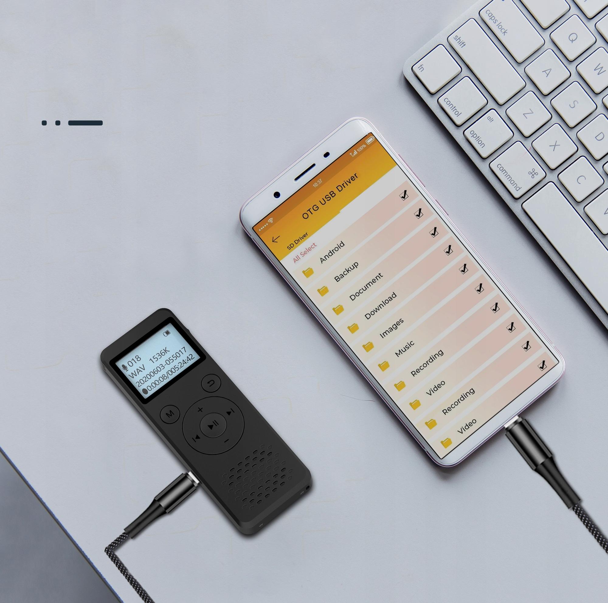 Szpiegowski Dyktafon cyfrowy1536Kbps 8GB detekcja Czas nagrywania 110 h