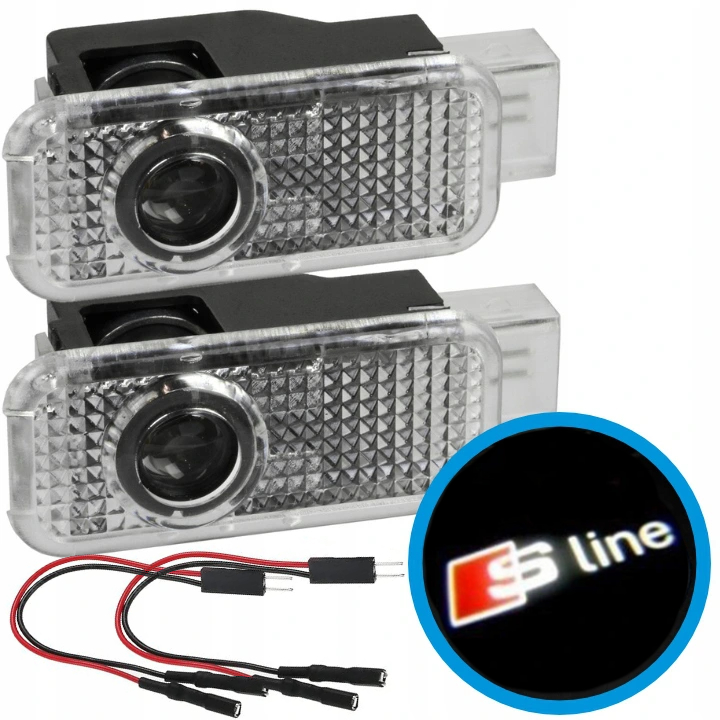 audi a3 a4 a5 a6 a7 проектор led логотип s-line