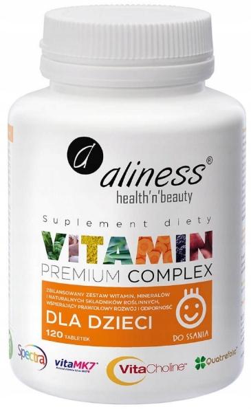 Aliness Vitamin Premium Complex dla dzieci 120tabl
