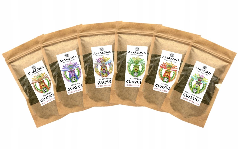 ILEX GUAYUSA Zestaw Smaków 6 x 250gram AMAZONA Waga produktu z opakowaniem jednostkowym 1.5 kg