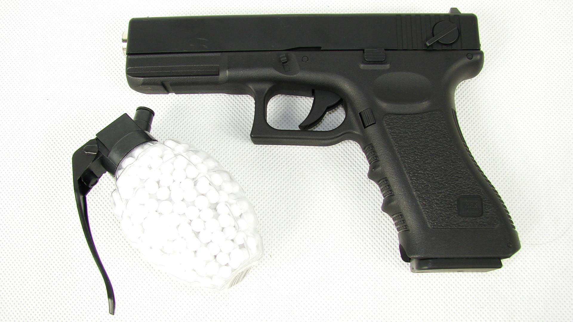 #GLOCK 17 ASG Zbraňová pištoľ 800 BB ZADARMO