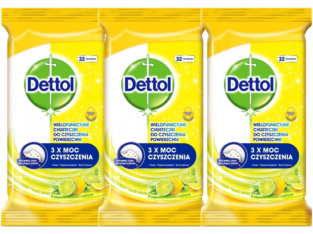 DETTOL салфетки для чистки лимон 3 кол-во в упак