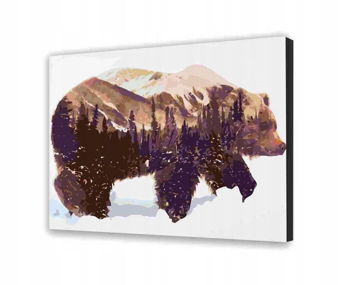 Bear - Obraz do samodzielnego malowania 40x50