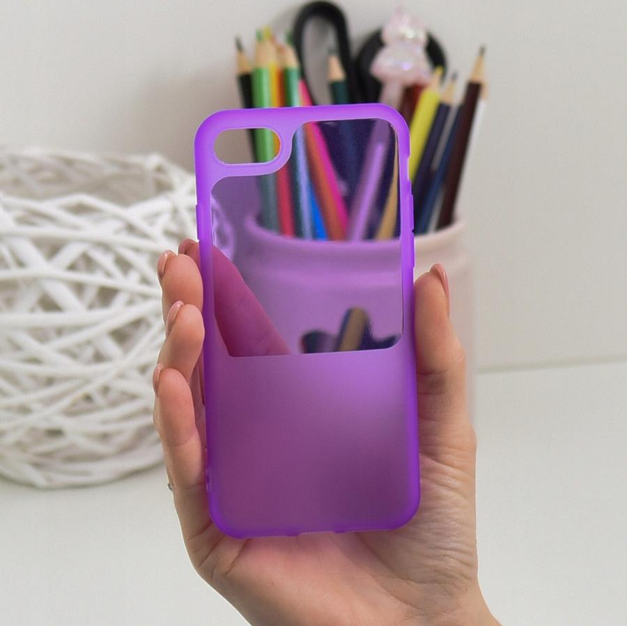 Etui do iPhone 7 8 SE 2020 Case Silikon Guma SZKŁO Dedykowany model iPhone 7 8 SE 2020
