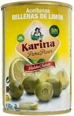 Зеленые оливки фаршированные лимоном 120г