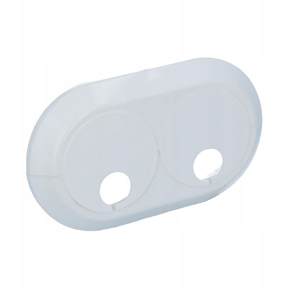Rozeta maskująca podwójna do rur fi 16 mm biała