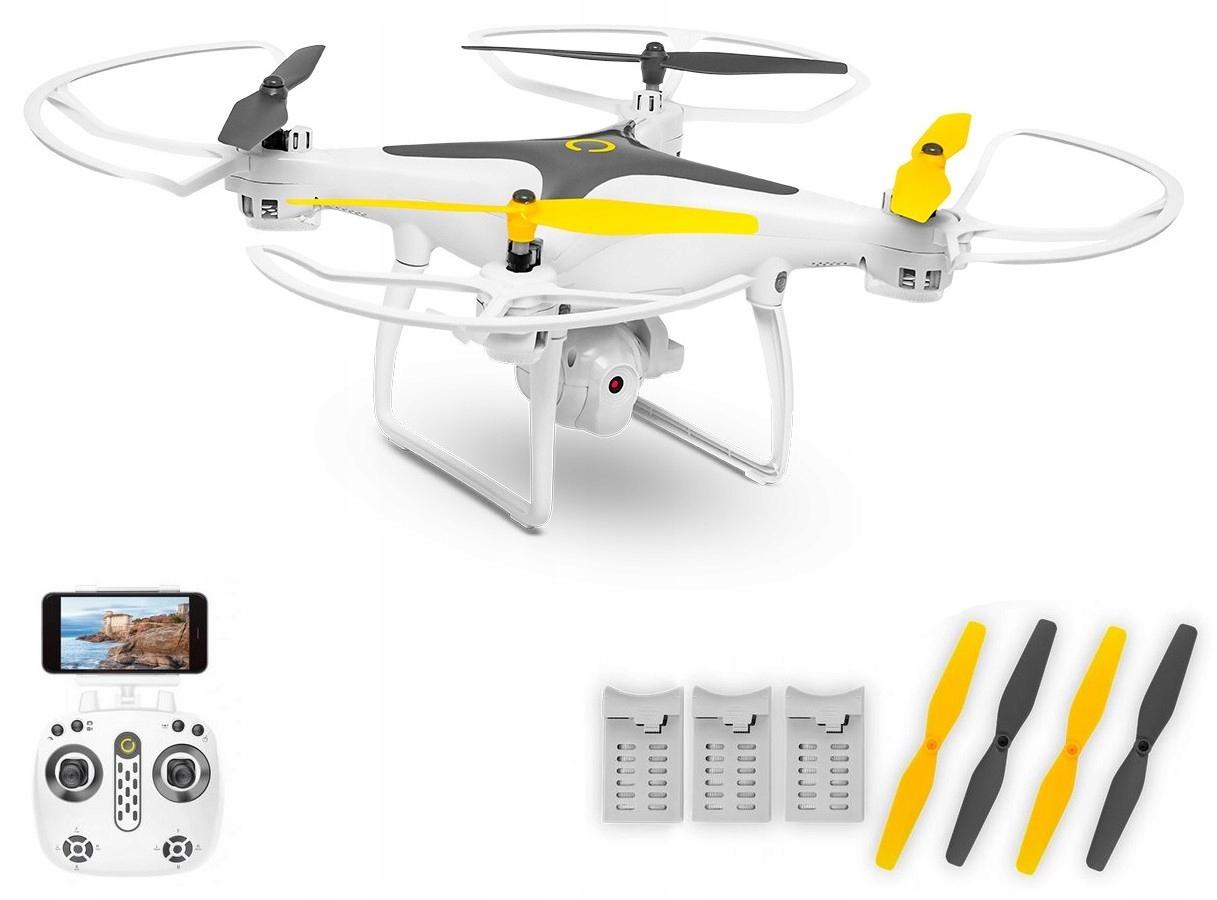 Duży Dron Zdalnie Sterowany Kamera WiFi Hd Fpv Led