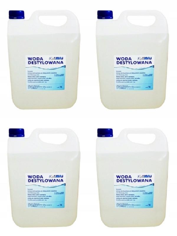 Woda destylowana 20 L ( 4szt. x 5 L )