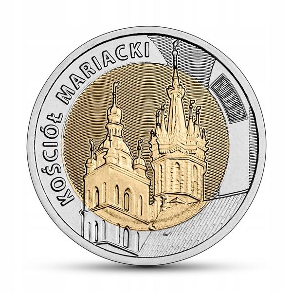 Moneta 5 zł Kościół Mariacki - 2020 rok