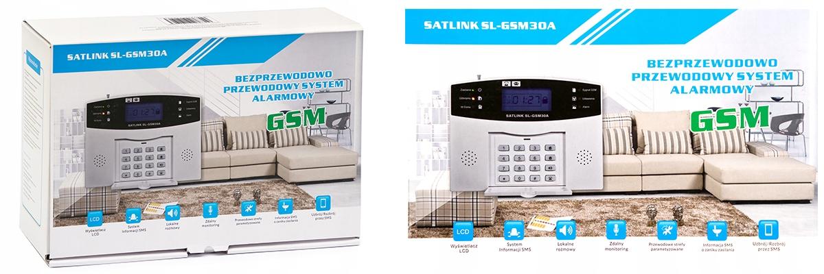PRZEWODOWY ALARM LCD GSM APP SYRENY POLSKI 5 PIR Kod produktu BEZPRZEWODOWY ALARM LCD GSM APP SYRENY POLSKI
