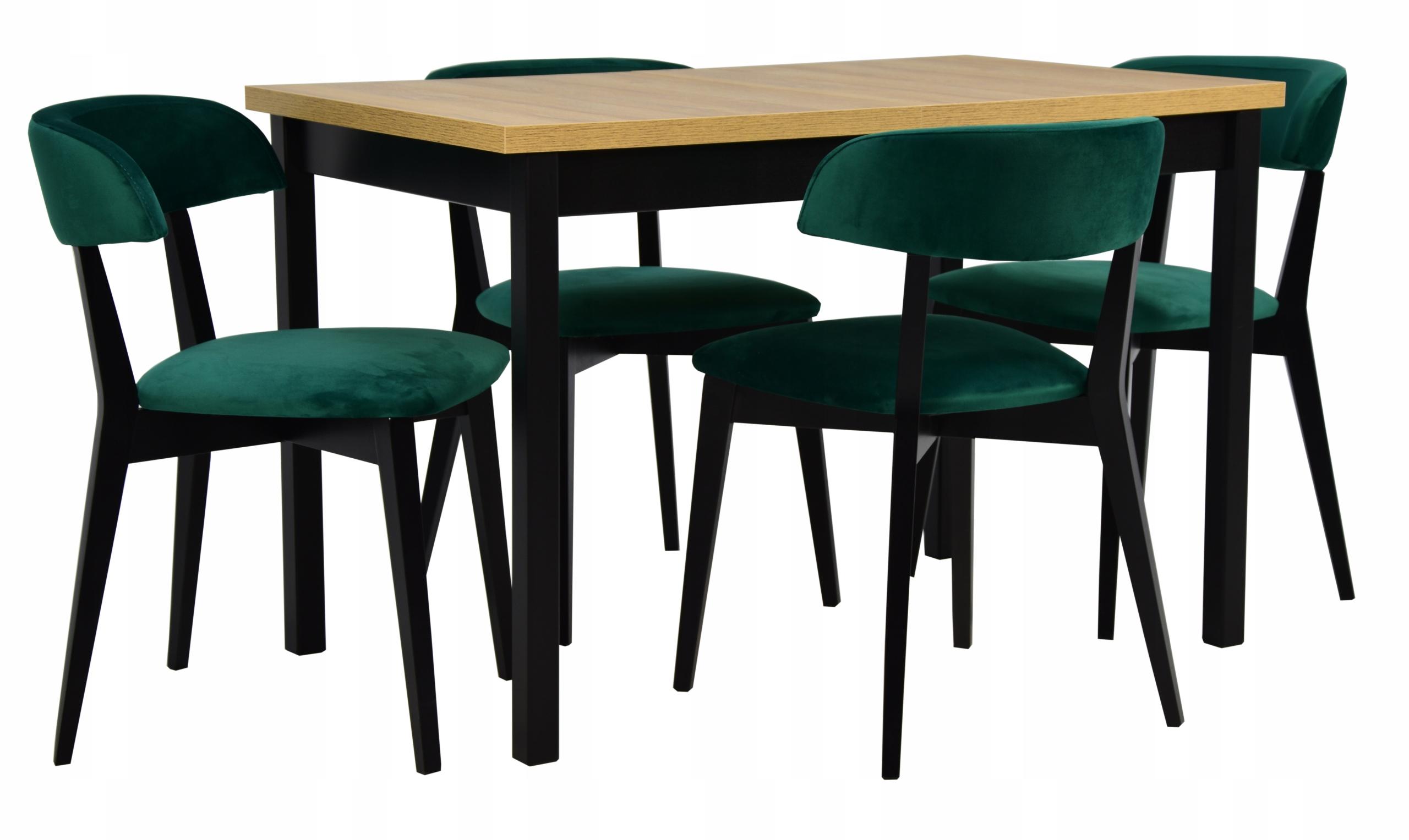 Stół rozkładany 70x120/160 4 krzesła LOFT