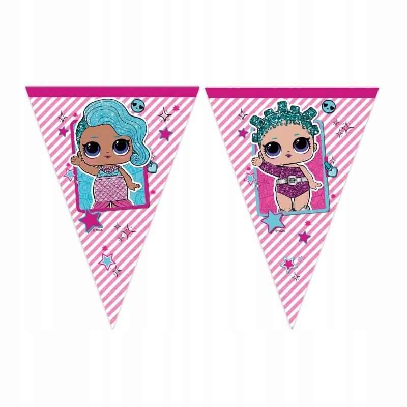 Banner Urodzinowy FLAGI-Lol Surprise-230 cm