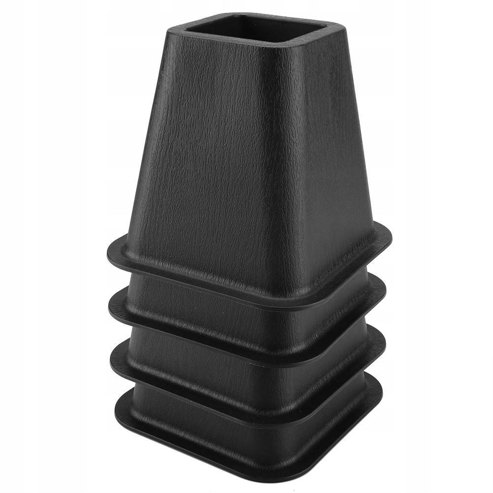 4PCS Čierne prekrytia pre stoličky, fil