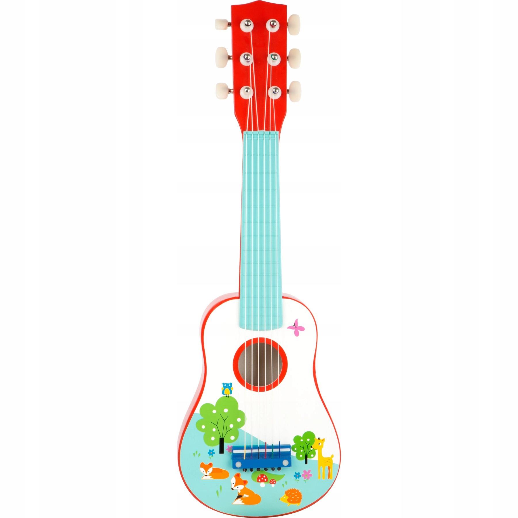 Gitara pre deti klasické farebné 54 cm drevo