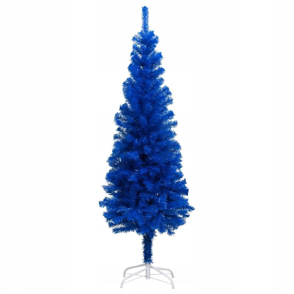 Umelý vianočný stromček so stojanom, modrý, 180 cm,