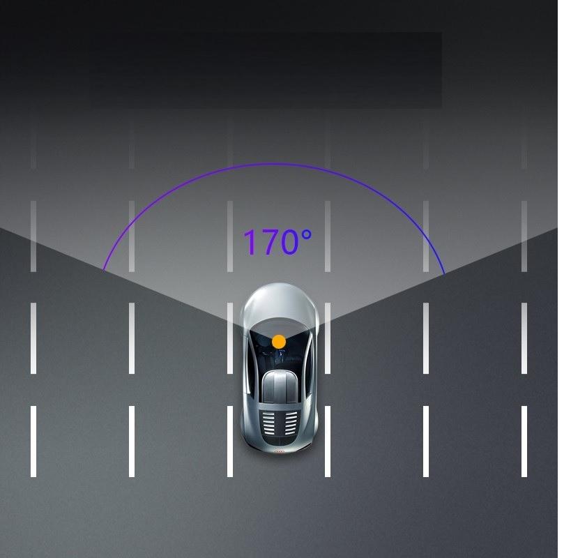Video Rejestrator Jazdy Kamera samochodowa cofania Cechy dodatkowe aparat automatyczny start czujnik ruchu czujnik wstrząsów dwie kamery funkcja kamery cofania HDR/WDR nagrywanie dźwięku wyświetlacz