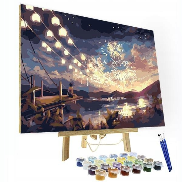 Item Picture to PAINTING BY NUMBERS-Night fireworks