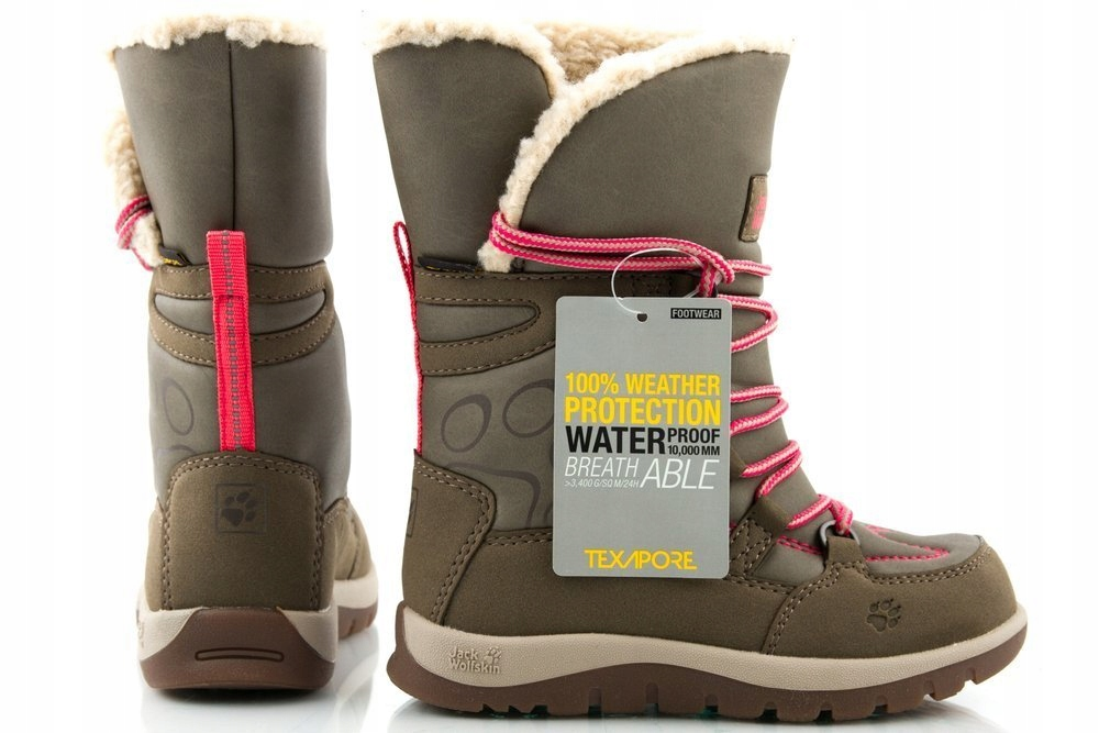 Ботинки JACK WOLFSKIN RHODE winter snow boots r 26