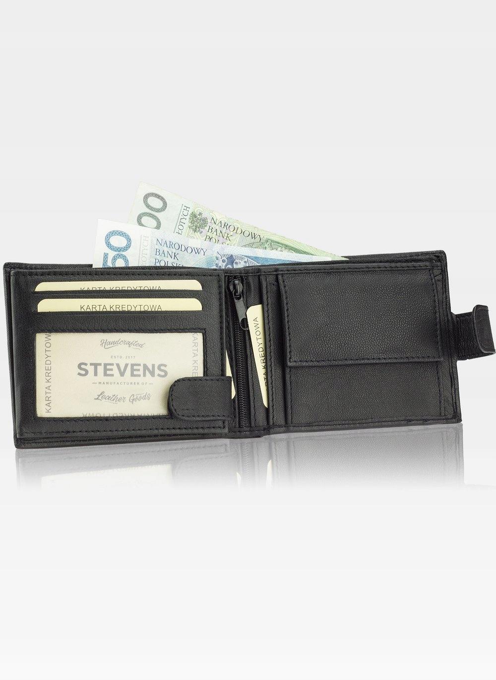 STEVENS GIFT SET Wallet Men's belt LEATHER The dominant material is natural leather