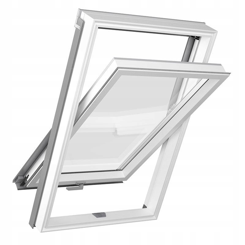 Мансардное окно ПВХ 3-х оконное 78x140, комплект фланцев