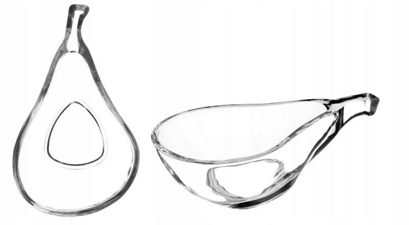 Набор из 2 стеклянных салатников для закусок ФИБИ