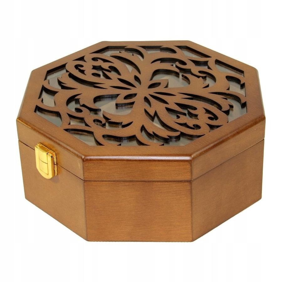 Hnedá krabička na šperky Arco a retro rakva