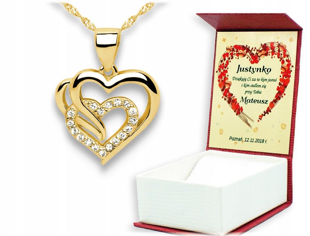 Prezent Na Walentynki Dzien Kobiet Bizuteria Serce 8886981081 Allegro Pl