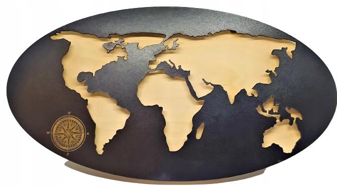Lampka Ścienna Nocna LED Mapa Świata