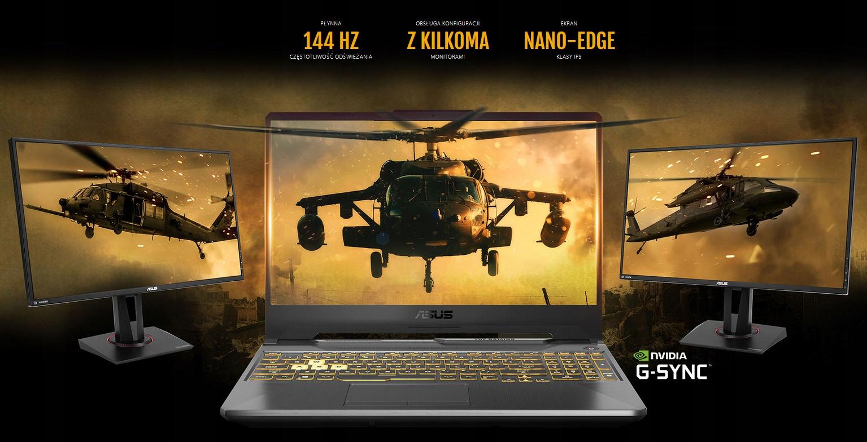 ASUS TUF Gaming F15 i5 16/512GB GTX1650 W10 144Hz Powłoka matrycy matowa