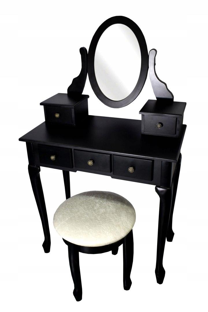 Косметический комод BLACK Большой зеркальный стул Другой вид
