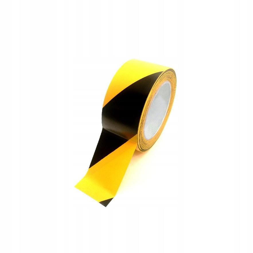 Самоклеющиеся предупреждающие ленты YELLOW-BLACK 5 см