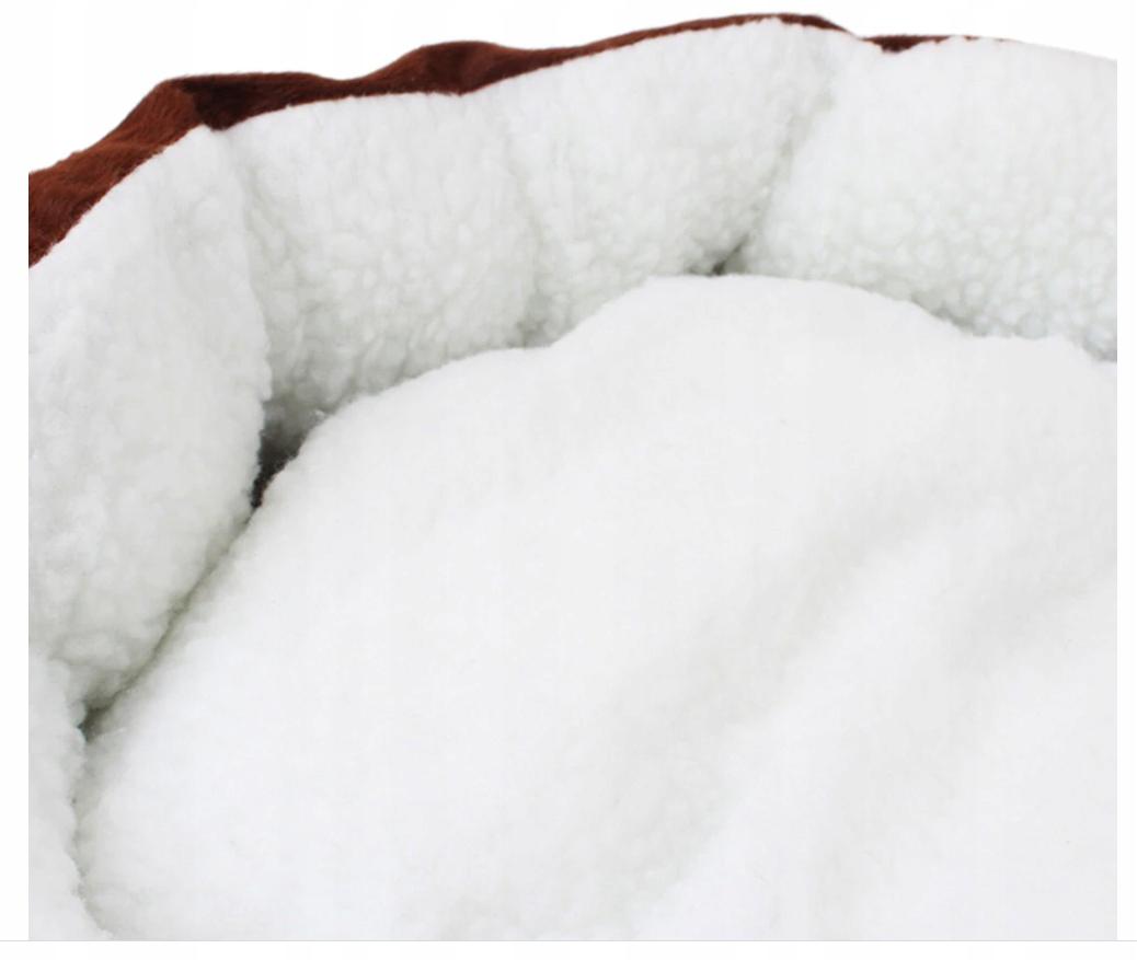 MIĘKKIE LEGOWISKO Dla Psa Kota Kojec z Poduszką Kolor biały odcienie szarości