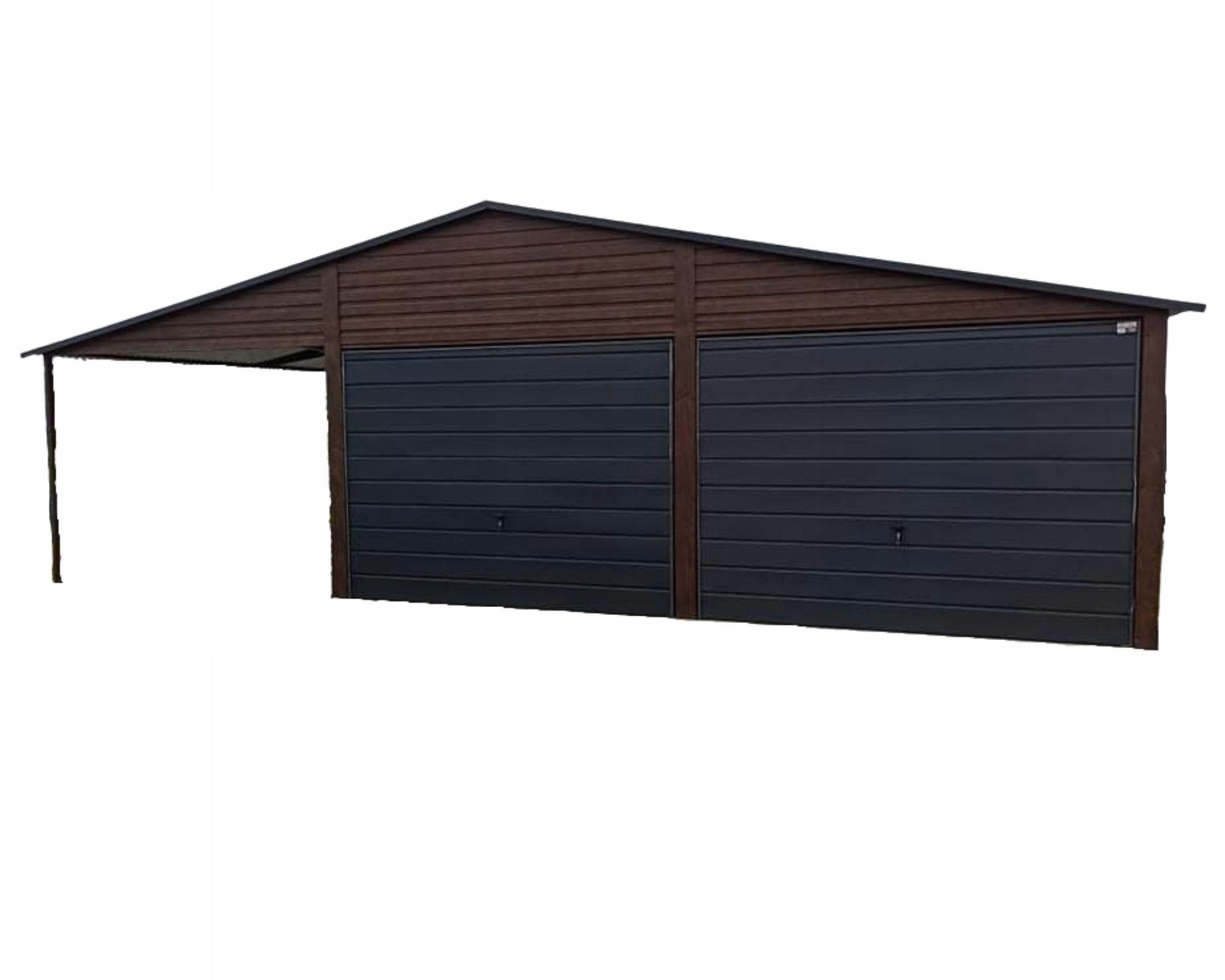 Жестяные гаражи 6х5 + 3 под дерево