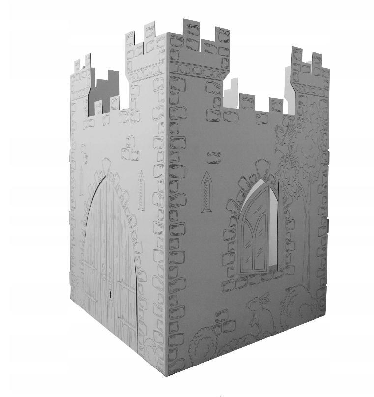 Kartónový hrad na maľovanie
